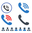 phone call flat icons vector image