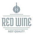 red wine logo simple gray style vector image