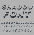 Shadow font Set of letters of drop shadow 3D vector image