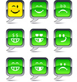 Smiley balloon icons vector image