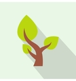 Tree saving plants flat icon vector image