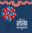 United states independence day july holiday vector image