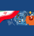 Iran information technology digital infrastructure vector image