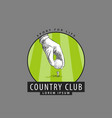logo for golf competitions vector image vector image