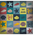 vintage seashell flat wallpaper vector image vector image