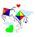 kites with love vector image vector image