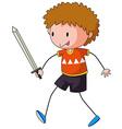 Sword fight vector image vector image