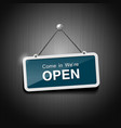 Open signs hanging with chain vector image vector image