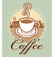 Coffee in retro style vector image