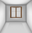 Empty room with window and blinds vector image