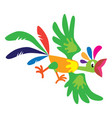 funny flying parrot vector image
