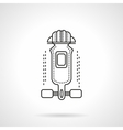 Longboard outfit flat line icon vector image