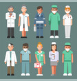 medical staff in uniforms isolated cartoon vector image