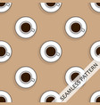 seamless pattern with cups of hot strong coffee vector image