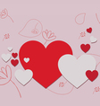 Valentine gift hearts vector image