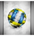 Volleyball ball watercolor vector image