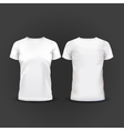 White Women T-shirt vector image
