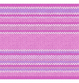 Seamless Pink Color Style Knitted Pattern vector image vector image