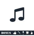 Music icon flat vector image
