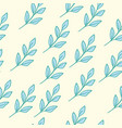 seamless floral pattern blue vector image vector image