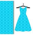 dress fabric pattern with blue pattern