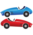 Toy racing cars vector image