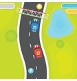 Racing game asset objects vector image vector image