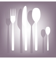 fork spoon knife icon vector image