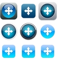 Map blue app icons vector image