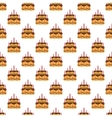Birthday cake pattern seamless vector image