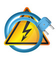 electrical plug and sign vector image