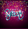 happy new year with intertwined tube vector image