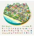 Isometric city business center vector image