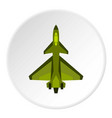 military fighter jet icon circle vector image