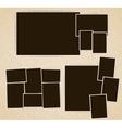 Photo frames in retro album vector image