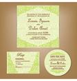 wedding set green vector image
