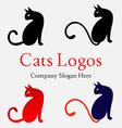 Cats Logo Set 2 vector image