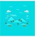 Beautiful mountain landscape outline vector image