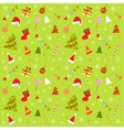 background with christmas elements vector image vector image