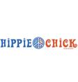 Hippie chick vector image