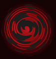 bordeaux spiral on a black background abstraction vector image