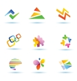 set of abstract icons logo templates vector image vector image