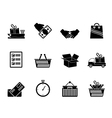Silhouette Shipping and logistic icons vector image vector image