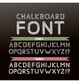 Chalk font in two variations vector image