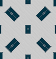 Cupboard icon sign Seamless pattern with geometric vector image