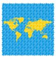world maps with puzzle pattern vector image vector image