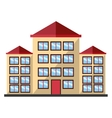 colorful tall building graphic vector image