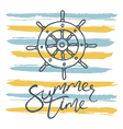 summer time helm and stripes vector image