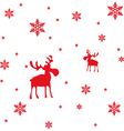Abstract Red Moose and Snowflakes vector image