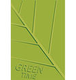 green leaf template vector image